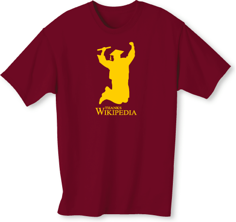 Education Wikipedia grad t shirt