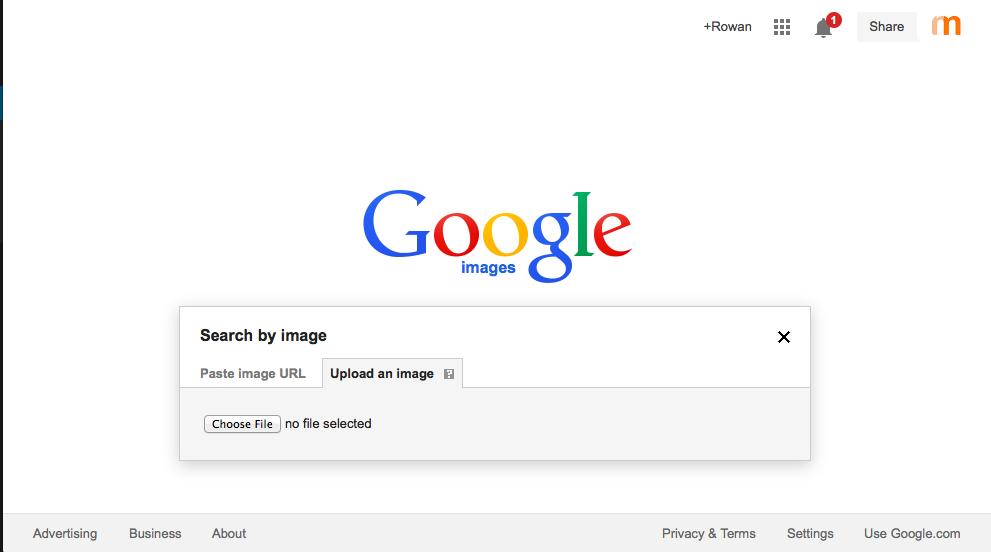 google image search basic plus dropdown